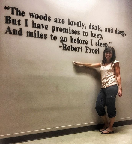 """Robert Frost said it best.,"" Tia says."